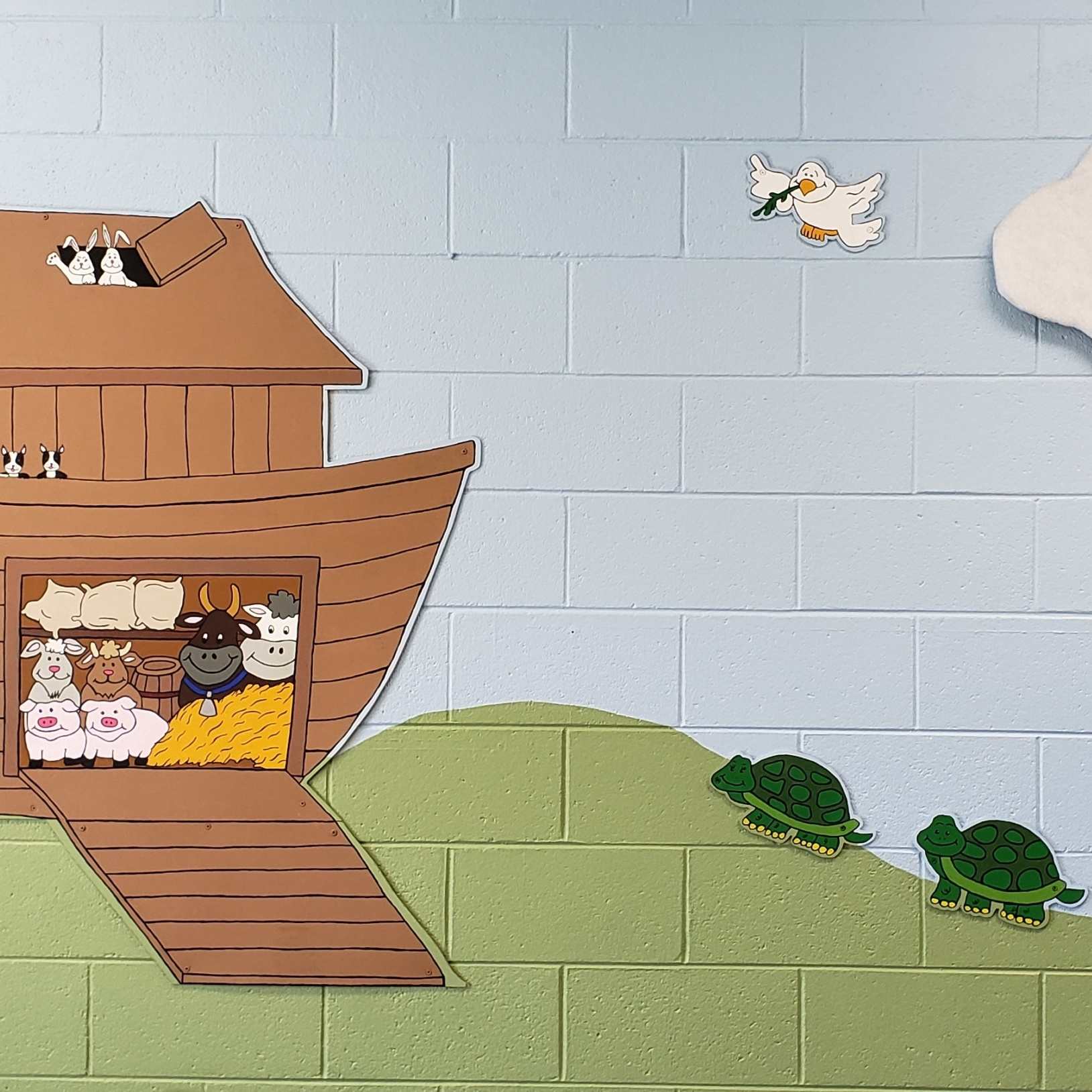 Wall mural of Noah's ark with two turtles